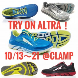 【Try on ALTRA!!】10/13~10/21 @CLAMP